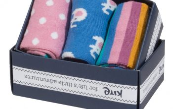 3 pack elephant socks – Organic Clothing Kids